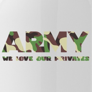 Militære / Soldiers: Army - We Love Our Private - Drikkeflaske
