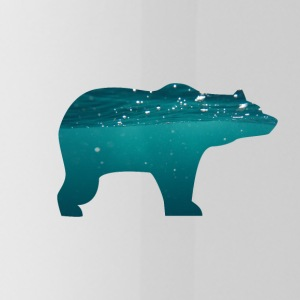 BEAR IN WATER - Trinkflasche