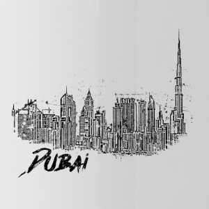 Dubai cityscape skyline sketch Burj Khalifa - Water Bottle