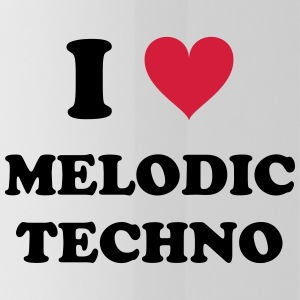 I LOVE MELODIC TECHNO - Water Bottle