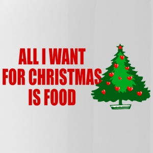 all i want for christmas is food - Trinkflasche