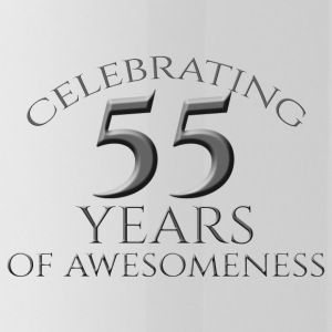55. Geburtstag: Celebrating 55 Years Of Awesomenes - Trinkflasche