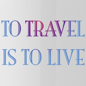 To travel is to live. - Water Bottle