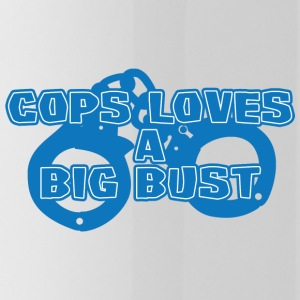Police: Cops Loves A Big Bust - Water Bottle