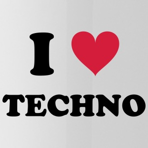 I LOVE TECHNO - Trinkflasche