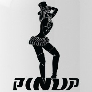 pinup girl with cylinder hat black - Water Bottle