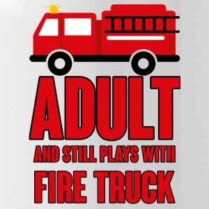 Fire Department: Adult and still plays with fire truck - Water Bottle