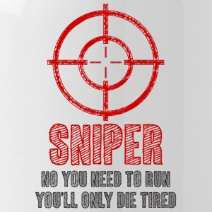 Military / Patriotic: Sniper - No you need to run, - Water Bottle
