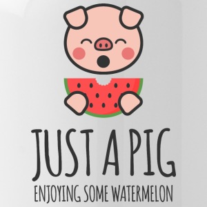 Just A Pig Enjoying Some Watermelon - Water Bottle