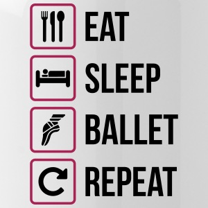 Eat Sleep Ballet herhalen - Drinkfles