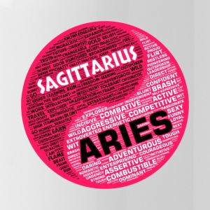 Sagittarius and Aries Zodiac Sign Woman Love Mug - Water Bottle