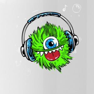 Monster green headphones music party humor lol fun - Water Bottle