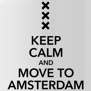 keep calm move to Amsterdam Holland Kreuz Cross - Trinkflasche