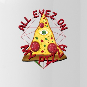 ALL EYEZ ON MY PIZZA Illuminati Italy Fun T-Shirt - Trinkflasche