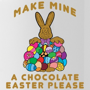 Easter Make Mine A Chocolate Easter Please - Water Bottle