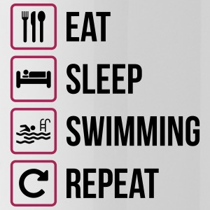 Eat Sleep Swimming Repeat - Trinkflasche