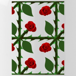 Red Rose Pattern - Water Bottle