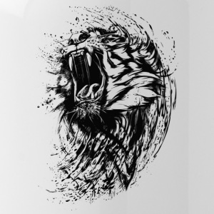 Tiger - Paint - Water Bottle