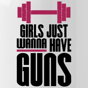 Girl Just Wanna Guns Gym Fitness - Water Bottle