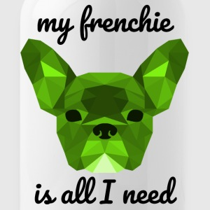 Low Poly Frenchie groen - Drinkfles