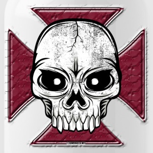 20-07 Iron Cross Skull, Skull Iron Cross - Drikkeflaske