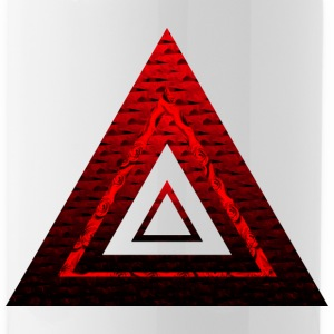 Red Ruby Rose Pyramid - Vattenflaska