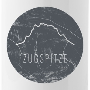 Zugspitze contour on wooden plate - Water Bottle