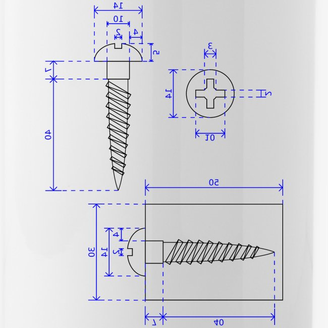 Technische zeichnung ansichten