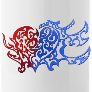 Tribal Heart Good And Evil Side - Water Bottle