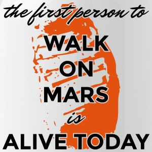 the first person to walk on Mars is alive today - Water Bottle