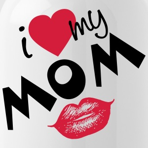 I love my Mom (vektor) your Color - Trinkflasche