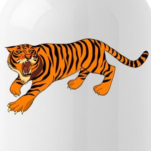Tiger with claws and roar on - Water Bottle