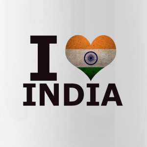 I LOVE INDIA FLAG - Trinkflasche