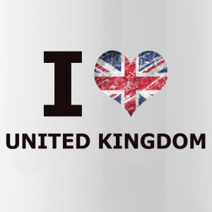 I LOVE UNITED KINGDOM FLAG - Drikkeflaske