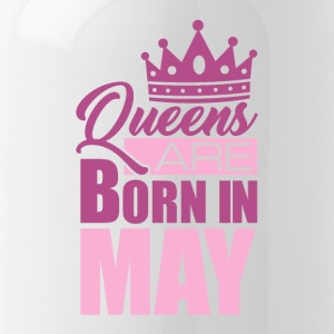 Queens are born in MAY! - Trinkflasche
