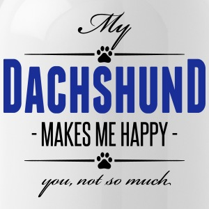 My Dachshund makes me happy - Trinkflasche