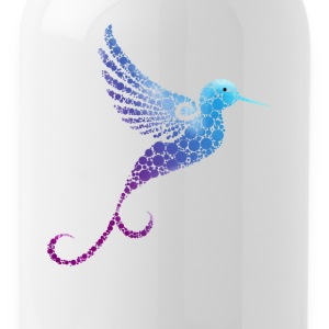 kolobri Mandala flight bird Funny cute cute bla - Water Bottle