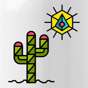 cactus, sun, summer, Mexico, triangle style - Water Bottle