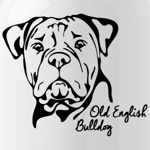 OLD ENGLISH BULLDOG PORTRAIT - Gourde