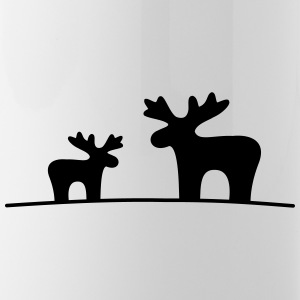 Moose couple - Water Bottle