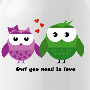 Owl you need is love - Trinkflasche