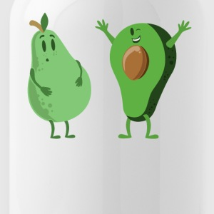 Avocado and Pear Gym Workout Fitness Health - Water Bottle