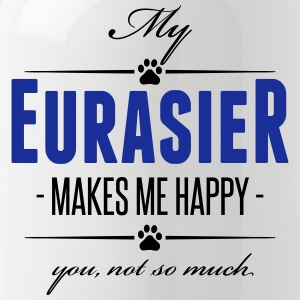 My Eurasier makes me happy - Trinkflasche