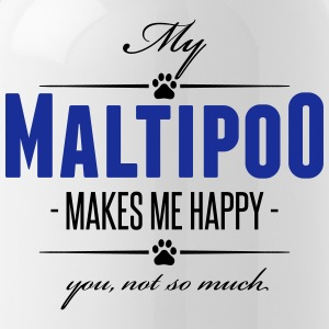 My Maltipoo makes me happy - Trinkflasche