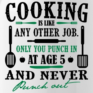 Cooking is like any job - koch - Trinkflasche