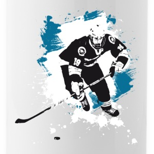 hockey puck hockey player attack polar bears sharks - Water Bottle