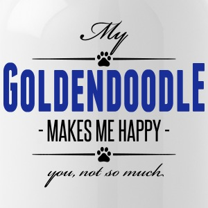 My Goldendoodle makes me happy - Trinkflasche