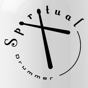 Il batterista Spirituale Logo # 2 Black - Borraccia
