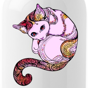 cat mandala gatto rosa cute divertente - Borraccia