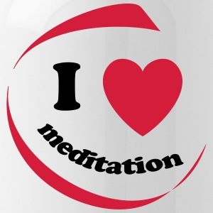 I love meditation - Water Bottle